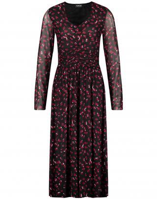 TAIFUN Šaty  čierna / červená / malinová / biela dámské 38