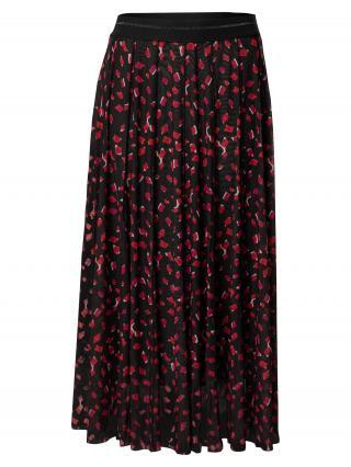 TAIFUN Sukňa  čierna / ružová / biela dámské 34