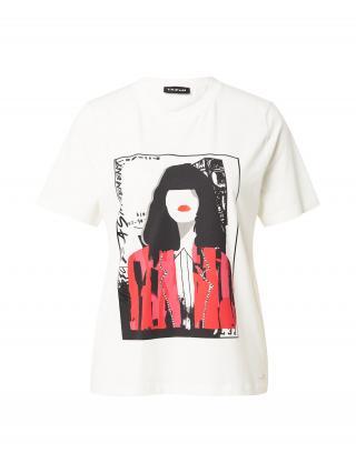TAIFUN Tričko  biela / čierna / ružová dámské XS