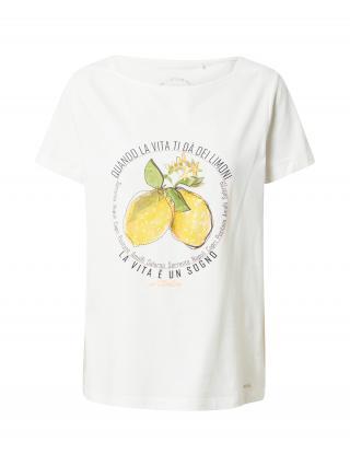 TAIFUN Tričko  biela / čierna / zlatá žltá / olivová / medová dámské XS-S