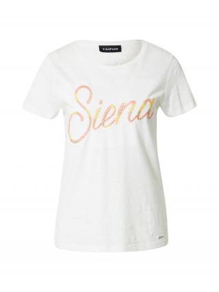TAIFUN Tričko  biela / rosé / zlatá žltá dámské XS