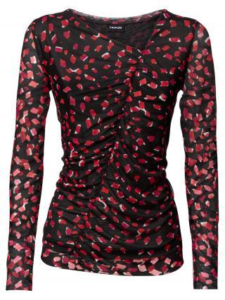 TAIFUN Tričko  čierna / ružová / biela / červená dámské XS