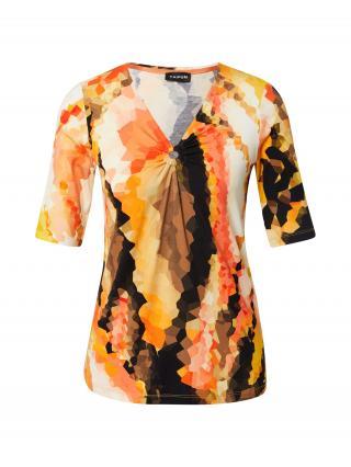 TAIFUN Tričko  oranžová / čierna / krémová / červená dámské XS