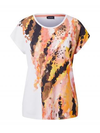TAIFUN Tričko  oranžová / homárová / hnedá / biela dámské XS