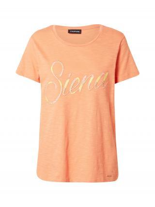 TAIFUN Tričko  pastelovo oranžová / žltá dámské XS