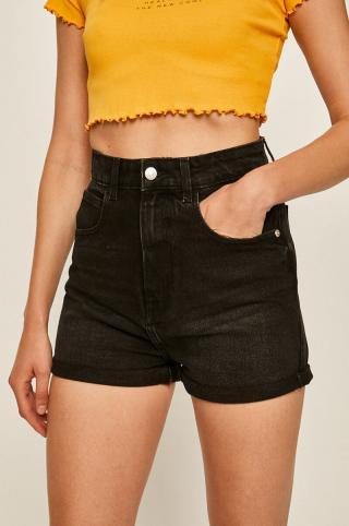 Tally Weijl - Rifľové krátke nohavice dámské čierna 36