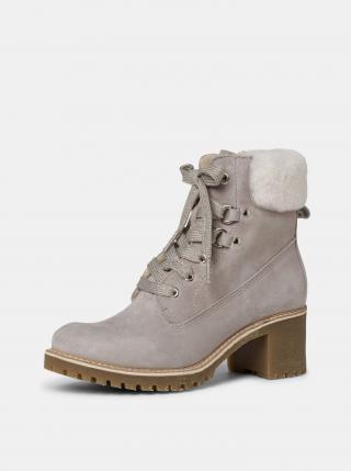 Tamaris béžové zimné semišové členkové topánky - 37 dámské béžová 37