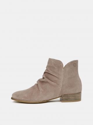 Tamaris hnedé semišové členkové topánky - 36 dámské hnedá 36