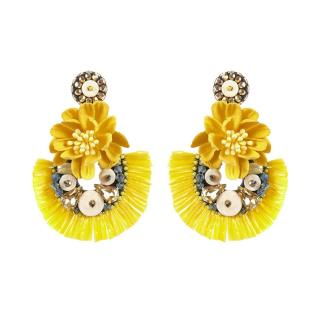 Tatami Womans Clip Earrings We2406 dámské Yellow One size