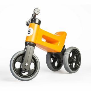 Teddies FUNNY WHEELS Rider Sport oranžové 2v1 28/30cm