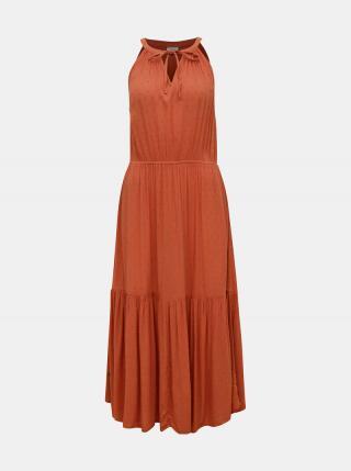 Tehlové šaty Jacqueline de Yong Lima dámské tehlová XS