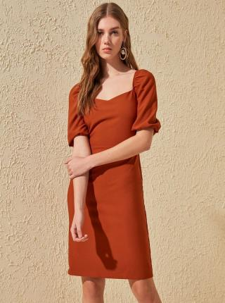 Tehlové šaty Trendyol - M dámské oranžová M
