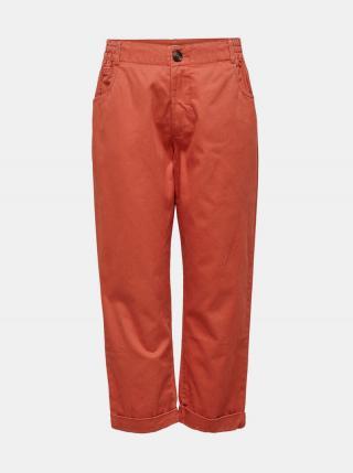 Tehlové skrátené nohavice Jacqueline de Yong Lopa dámské červená L