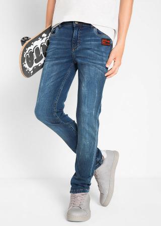 Teplákové džínsy Slim Fit pánské modrá 128,134,140,146,152,158,164,170,176
