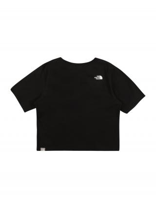 THE NORTH FACE Funkčné tričko  čierna / biela dámské 110-122
