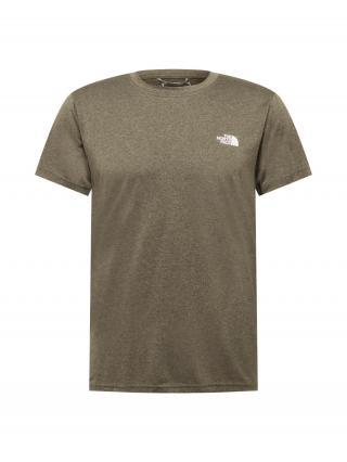 THE NORTH FACE Funkčné tričko  zelená / biela pánské S