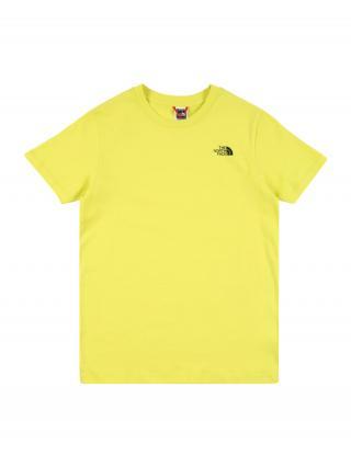 THE NORTH FACE Funkčné tričko  žltá / čierna pánské 110-122