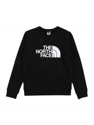 THE NORTH FACE Športová mikina DREW PEAK  čierna / biela pánské 110-122