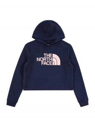 THE NORTH FACE Športová mikina  námornícka modrá / pastelovo ružová dámské 110-122