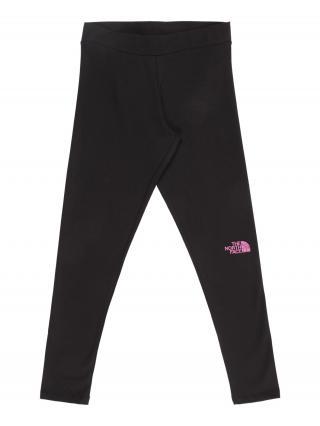 THE NORTH FACE Športové nohavice  čierna / ružová dámské 110-122
