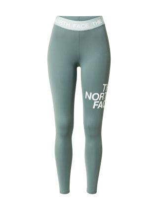 THE NORTH FACE Športové nohavice  svetlozelená / biela dámské M