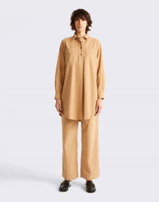 Thinking MU Camel Neyade Dress CAMEL XS dámské Béžová XS