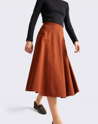 Thinking MU Clay Red Checks Lavanda Skirt CLAY RED XS dámské Červená XS