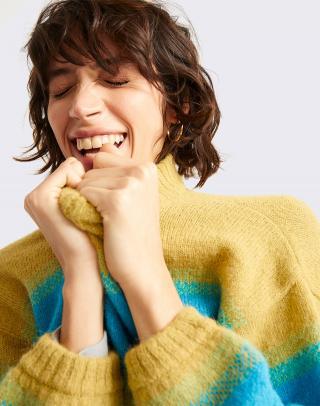 Thinking MU Green Lada Knitted Sweater GREEN S dámské Zelená S