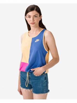 Tielka pre ženy Nike - modrá, žltá dámské S