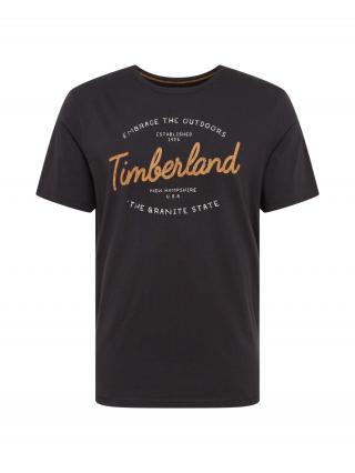 TIMBERLAND Tričko  čierna / horčicová / biela pánské M