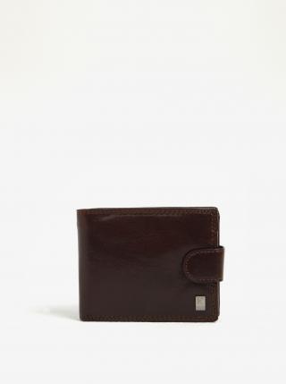 Tmavohnedá pánska kožená peňaženka KARA pánské