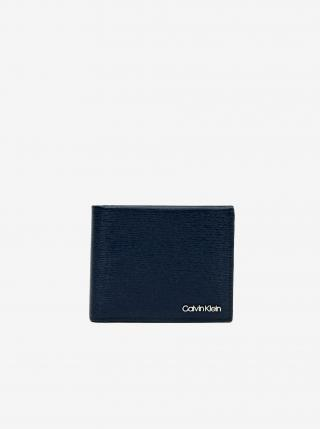 Tmavomodrá pánska kožená peňaženka Calvin Klein pánské