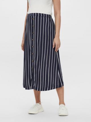 Tmavomodrá tehotenská pruhovaná midi sukňa Mama.licious dámské XL