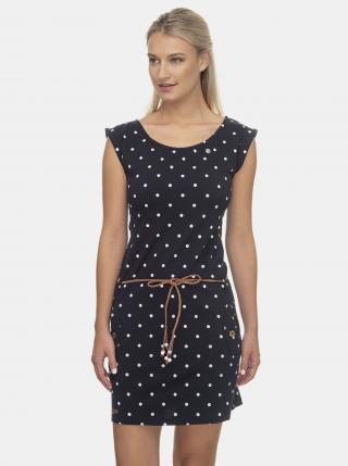 Tmavomodré bodkované šaty Ragwear - S dámské modrá S