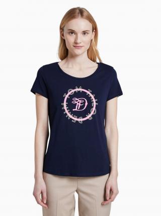 Tmavomodré dámske tričko Tom Tailor Denim dámské tmavomodrá S