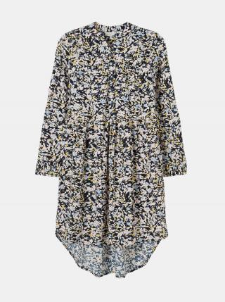 Tmavomodré dievčenské kvetované šaty name it Barilisa tmavomodrá 122
