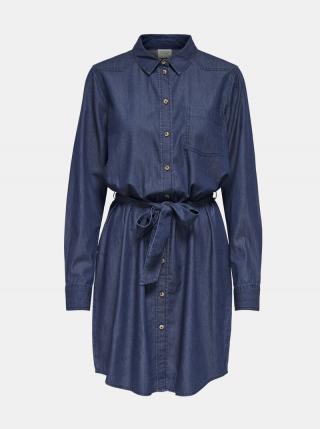 Tmavomodré košeľové šaty Jacqueline de Yong Esran dámské tmavomodrá S