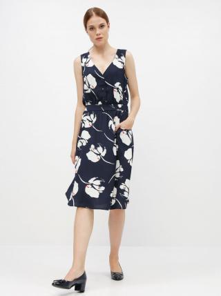 Tmavomodré kvetované šaty Jacqueline de Yong Layla dámské tmavomodrá S