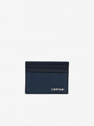 Tmavomodré pánske kožené púzdro na karty Calvin Klein pánské tmavomodrá