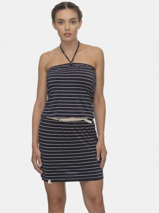 Tmavomodré pruhované šaty Ragwear Chicka - S dámské modrá S