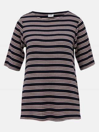 Tmavomodré pruhované tričko Jacqueline de Yong Camina dámské tmavomodrá S