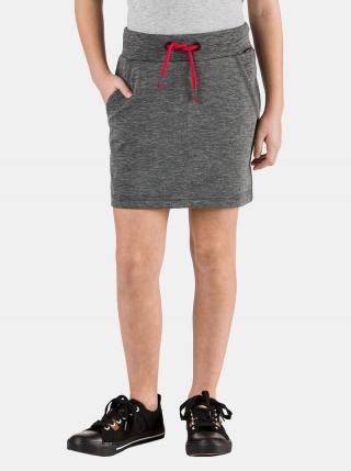 Tmavošedá dievčenská sukňa SAM 73 tmavosivá 128