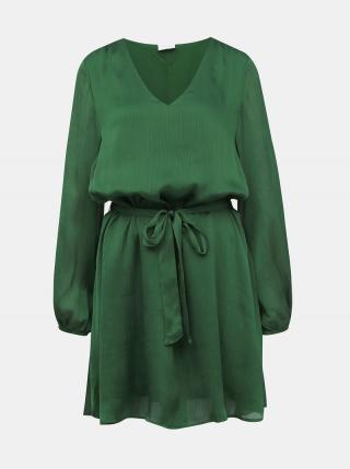 Tmavozelené šaty VILA Wavey dámské tmavozelená S