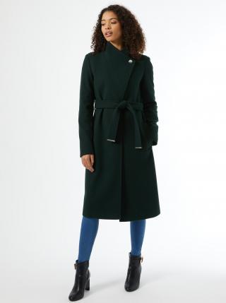 Tmavozelený zimný kabát Dorothy Perkins Tall dámské tmavozelená S
