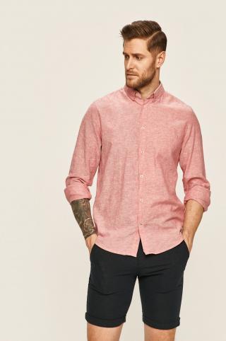 Tom Tailor Denim - Košeľa pánské ružová S