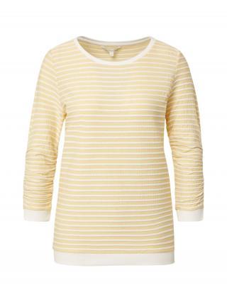TOM TAILOR DENIM Mikina  žltá / biela dámské XL