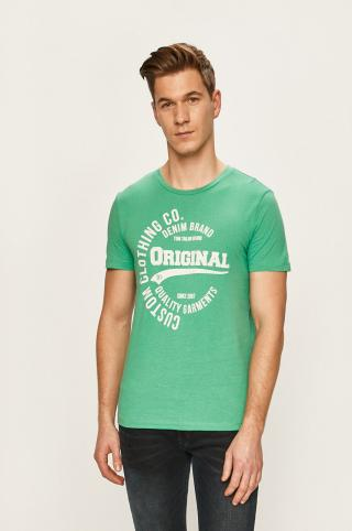 Tom Tailor Denim - Pánske tričko pánské zelená S