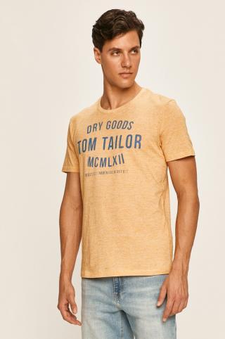 Tom Tailor Denim - Pánske tričko pánské žltá S