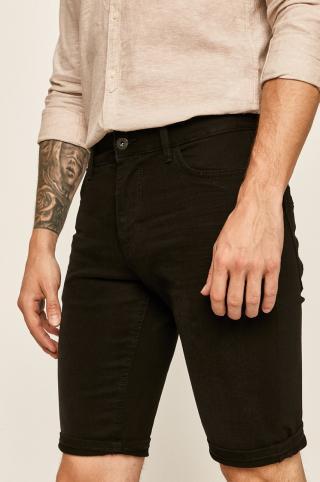 Tom Tailor Denim - Rifľové krátke nohavice pánské čierna 29