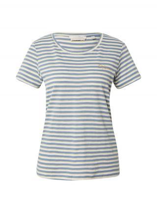 TOM TAILOR DENIM Tričko  modrá / biela dámské L